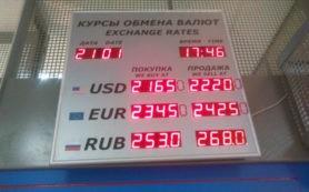 Американская валюта в обменных пунктах киевских банков
