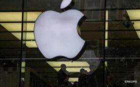капитализация американской компании Apple упала на 8%